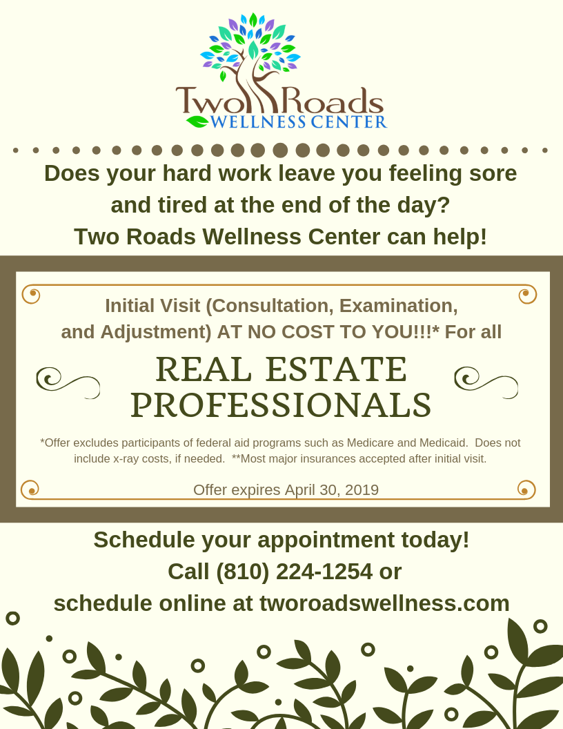 Real Estate Professionals first visit promo